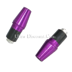 Custom Handlebar End Plugs (type 5) - Purple