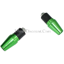 Custom Handlebar End Plugs (type 5) - Green