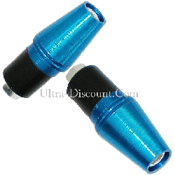 Custom Handlebar End Plugs (type 5) - Blue