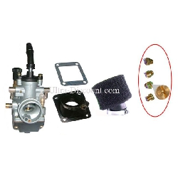 19mm Carburetor Kit + Jets + Black Air Filter for ATV Pocket Quad
