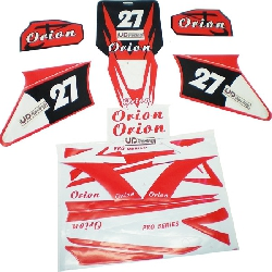 Decoration Kit for Dirt Bike AGB27 - Red