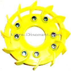 Fan Impeller for Chinese Scooter - Yellow