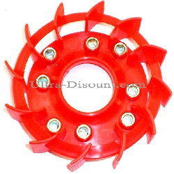 Fan Impeller for Chinese Scooter - Red